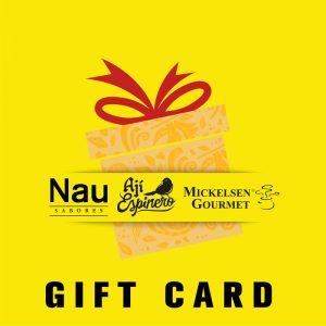 Gift card yellow Vinogourmet.cl