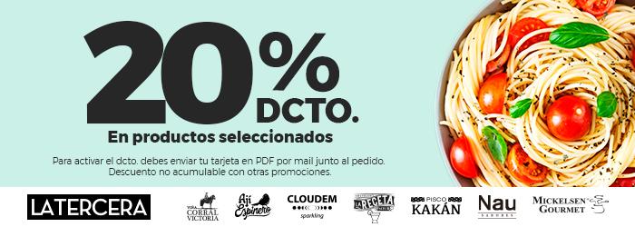 Descuento Club La Tercera 20%