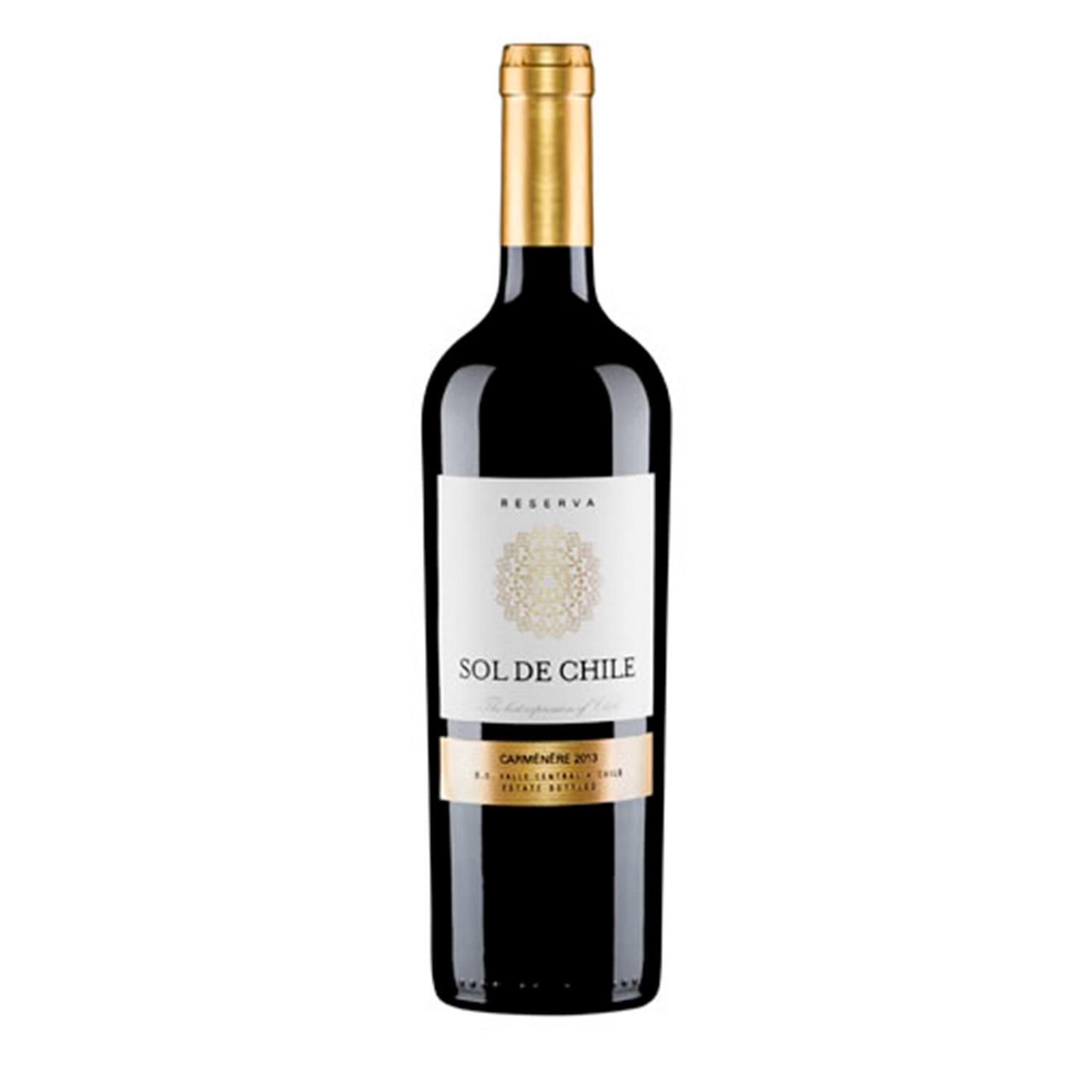1853 VINO 750CCX12 BOT SOL DE CHILE RES.CARMENERE 13.5º